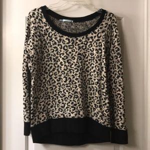 Black and white Cheetah top